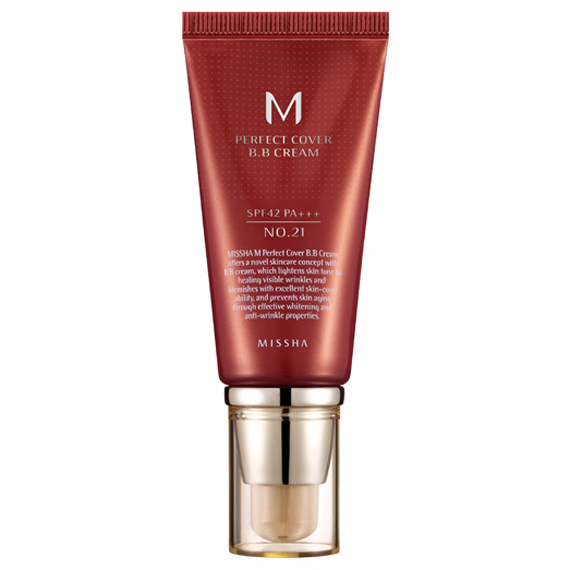Тональный BB крем MISSHA M Perfect Cover BB Cream SPF42/PA+++ (No.21/Light Beige) 50 мл